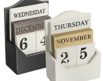 Perpetual Desk Calendar Etsy