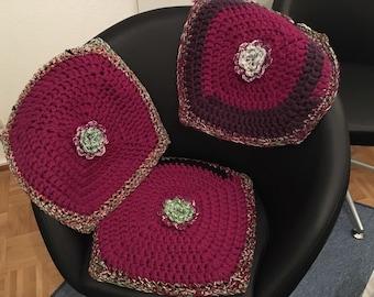 Chair cushions, pillows for garden chairs