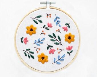 À faire soi-même Broderie Cross Stitch Kit pour débutants Handmade Flower Pattern Craft Cadeau