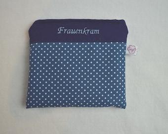 Women's Stuff Bag Dots on Blue