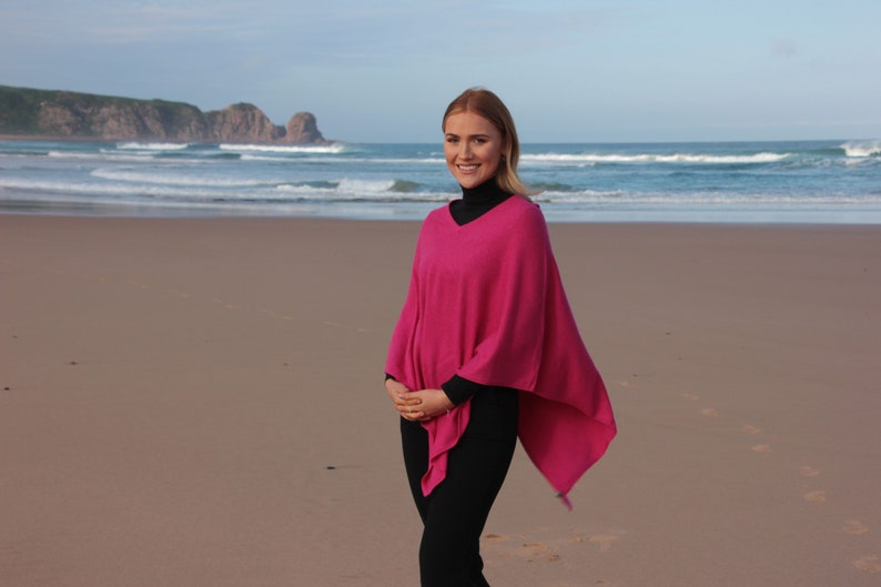 Hand Made In Nepal Pink Cashmere Poncho