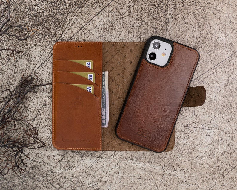 iPhone 12 Pro Back Cover Leather Apple iPhone 12 /& iPhone 12 Pro 6.1 Magnetic Detachable RFID Protection Wallet Case with Card Slots