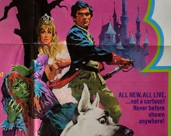 The Tinder Box Das Feuerzeug Original U.S. Theatrical Movie Poster 1968 Vintage Sixties Hans Christian Andersen Fairy Tale Fantasy Film
