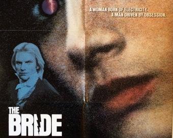 The Bride Original Theatrical Movie Poster 1985 Bride of Frankenstein Sting Jennifer Beals