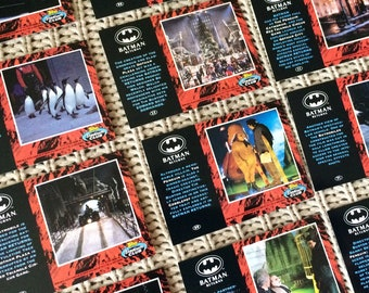 Lot of 14 1992 Batman Returns Topps Stadium Club Trading Cards Tim Burton Michael Keaton Danny Devito Batmobile