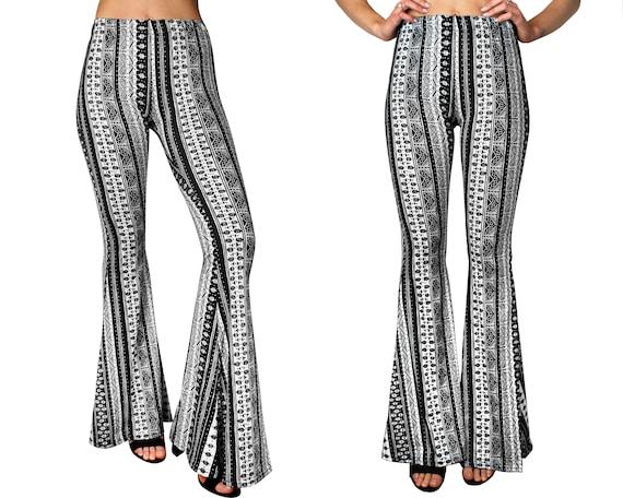 Women\u2019s Bellbottoms Yoga Pants Boho Flare Pants Custom Lady Lunar Bells Mama Flares Mommy /& Me
