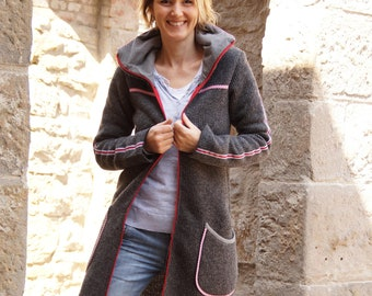 Knitted coat for frierhippen with new knitting and 4 selectable colors