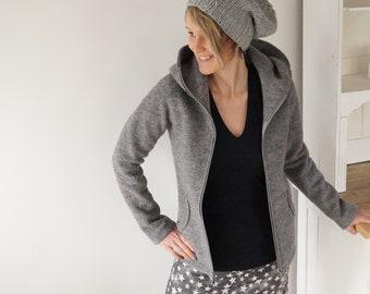 Women's walk jacket, walk coat, wool jacket, transition jacket, in many colors, Nulla