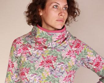 Collar sweater, Women's sweatshirt, Sweater with leaves, Sana