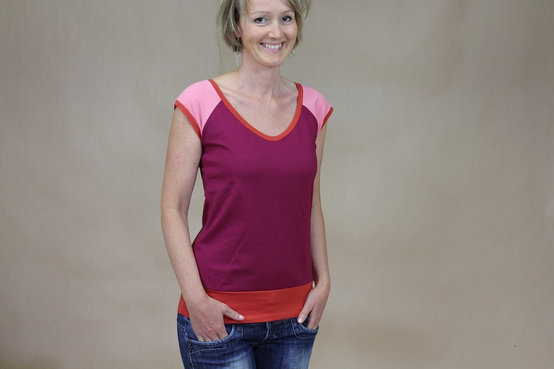 Tshirt t-shirt in red tones Tanja image 0