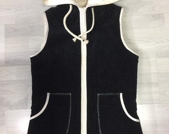 Cord vest, warm vest, sleeveless corduroy jacket, cuddly vest