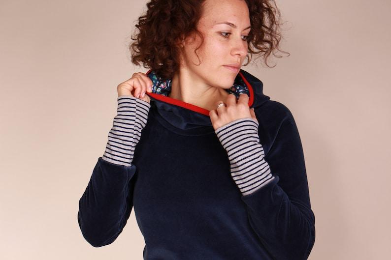 Nicky Hoodie Hooded Sweatshirt ladies dark blue Sweater with image 0