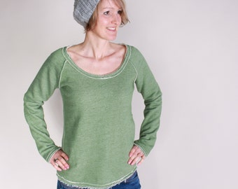 Long sleeve shirt, mottled fringe sweater, sweater melted, cool shirt, possible in 3 colours