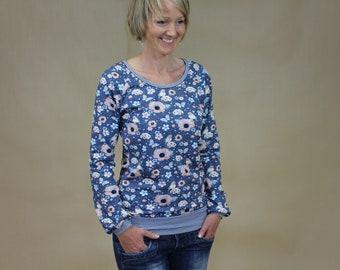 Longsleeve, blouse, jersey blouse, long sleeve shirt, Nara, with new fabrics