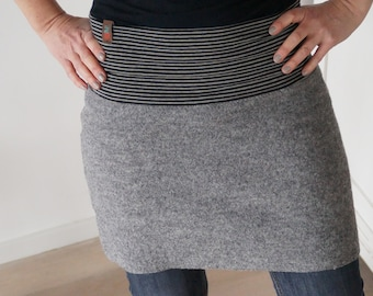 Walkrock, wool skirt, winter skirt, warm skirt, with ring edand in several colors!