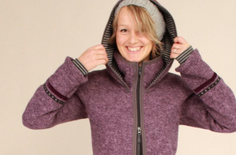 Hooded coat in walk ladies walkcoat walk jacket in many image 0