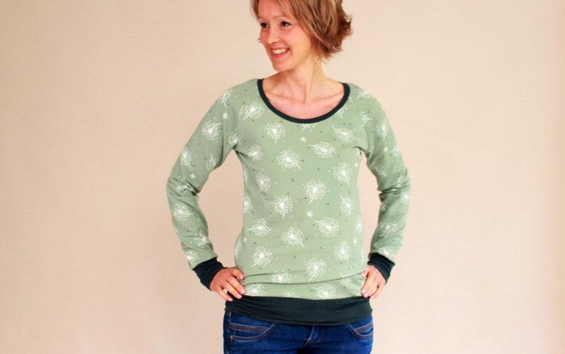 Longsleeve round neck pulli sweater pusteblume image 0