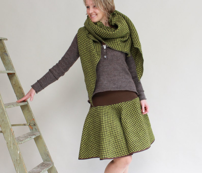 Wool skirt with cuffs image 0
