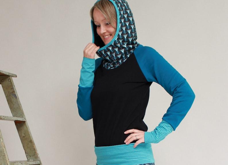 Hoody Ladies Hooded Floral Sweatshirt Women Zoja image 0