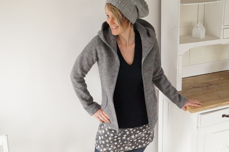 Ladies walk jacket walkcoat wool jacket transition jacket image 0