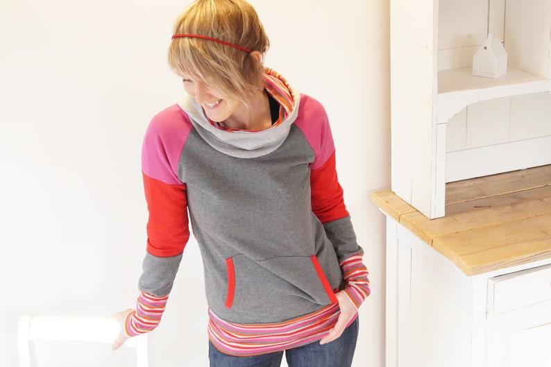Hoodie Rebecca in new fabric combinations image 0