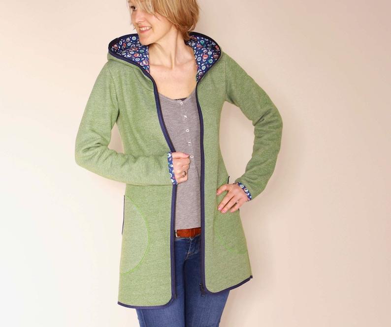 Sweat jacket long jacket warm jacket almut image 0