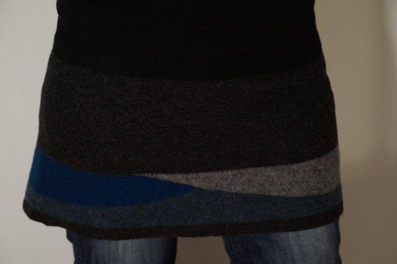 Wool skirt walk skirt warm skirt kidney WARMER for image 0