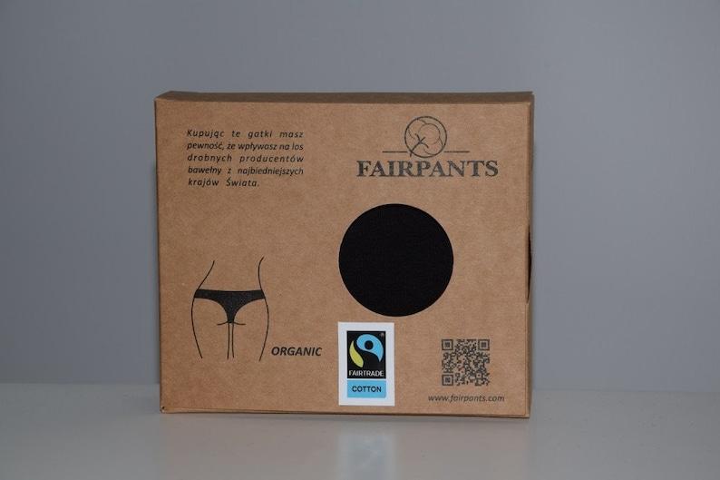 60bcd64c258036 Majtki bawełna organiczna Fairpants Surf 2 czarne Fair Trade | Etsy