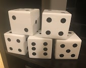 Large Wooden Lawn Dice
