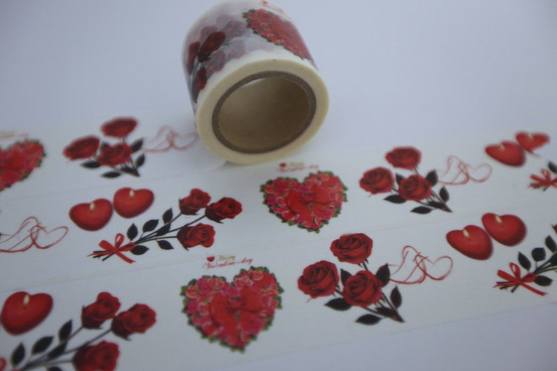 Tape roses hearts love