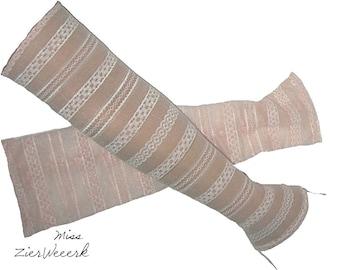 dc48e27d593a7a Armstulpen Spitze rosa, größe S/M, gestreift lang