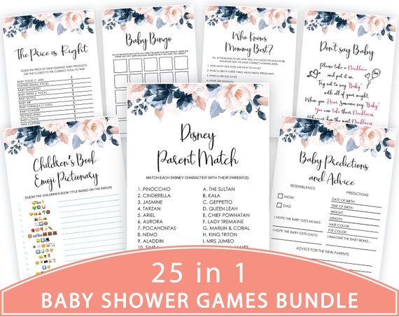 Baby Shower Game Package Shower Game Bundle Party Game Baby Shower Game byh438 Baby Shower Games Printable Baby Shower Instant Download