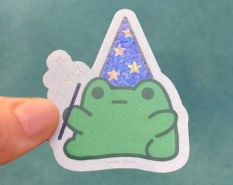 frog sticker frog lover gift stickers stationary glitter laminate bullet journal stickers Glitter Mushroom sticker notepad stickers