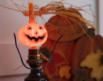 Pumpkin Bubble Light [Vintage – Retro – Halloween Decor]