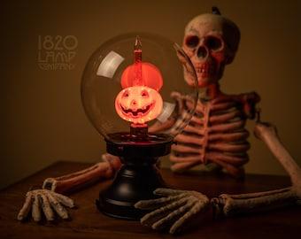 Pumpkin Bubble Cauldron Crystal Ball [Vintage – Retro – Halloween Decor – Pumpkin Bubble Light]