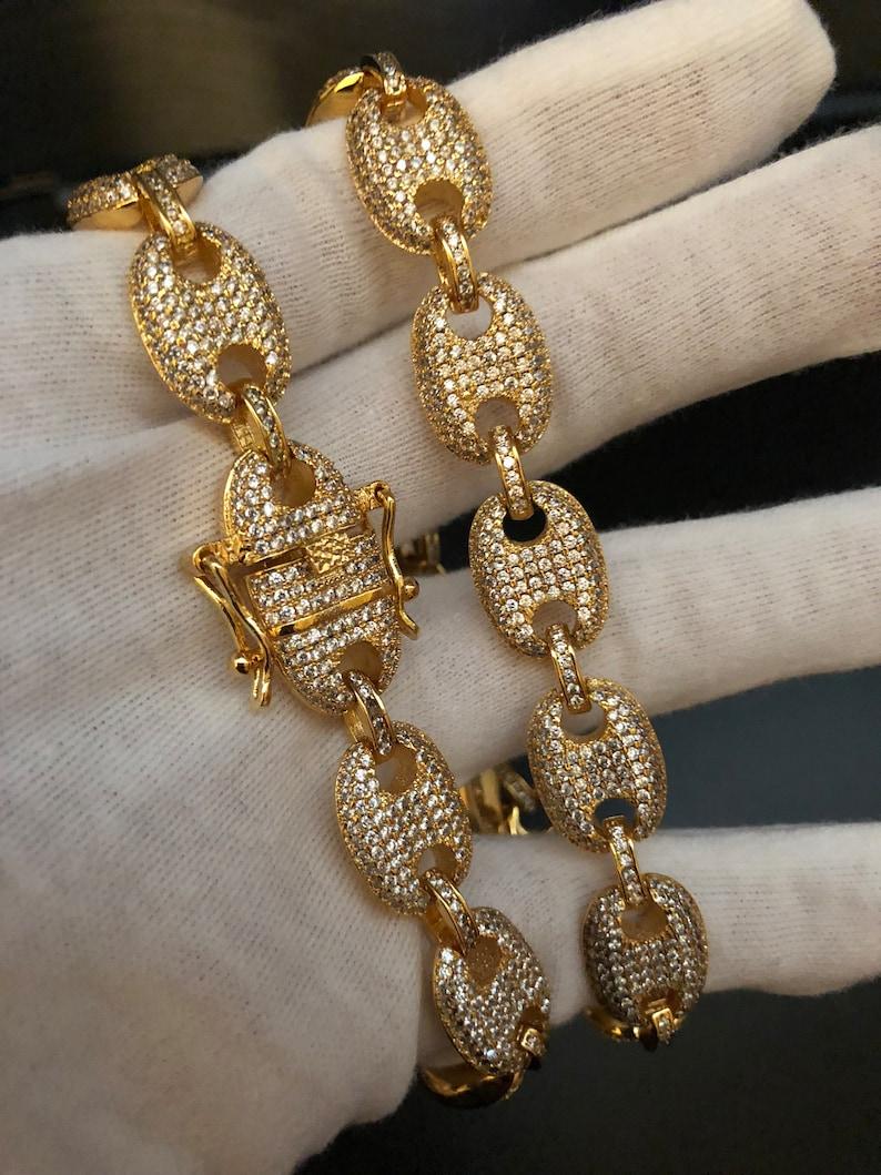 2fa3f598e33 14k Yellow Gold Diamond Gucci Mariner Link Chain Necklace