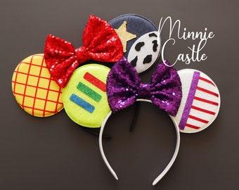 Buzz Lightyear and Woody Minnie ears, Toy Story Buzz Lightyear, woody Minnie Mickey ears, Toy Story Mickey Minnie Ears, Woody cowboy Mickey