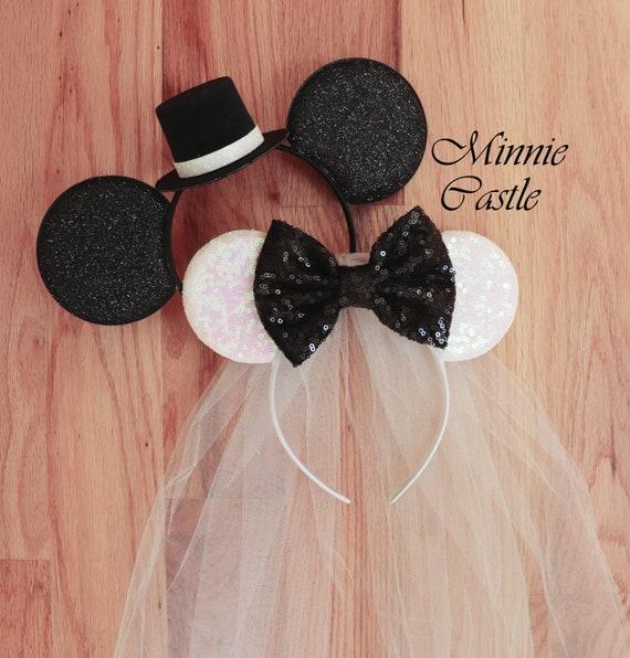 Bride mickey mouse ears headband bride minnie ears bride  a44126fc693
