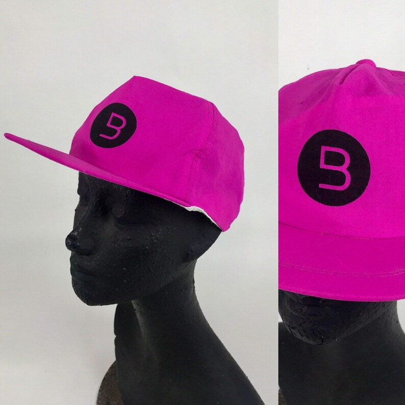 07df3ba2c7b Vintage 90s Neon Pink Baseball Cap Vapor Wave Hat Surf Punk