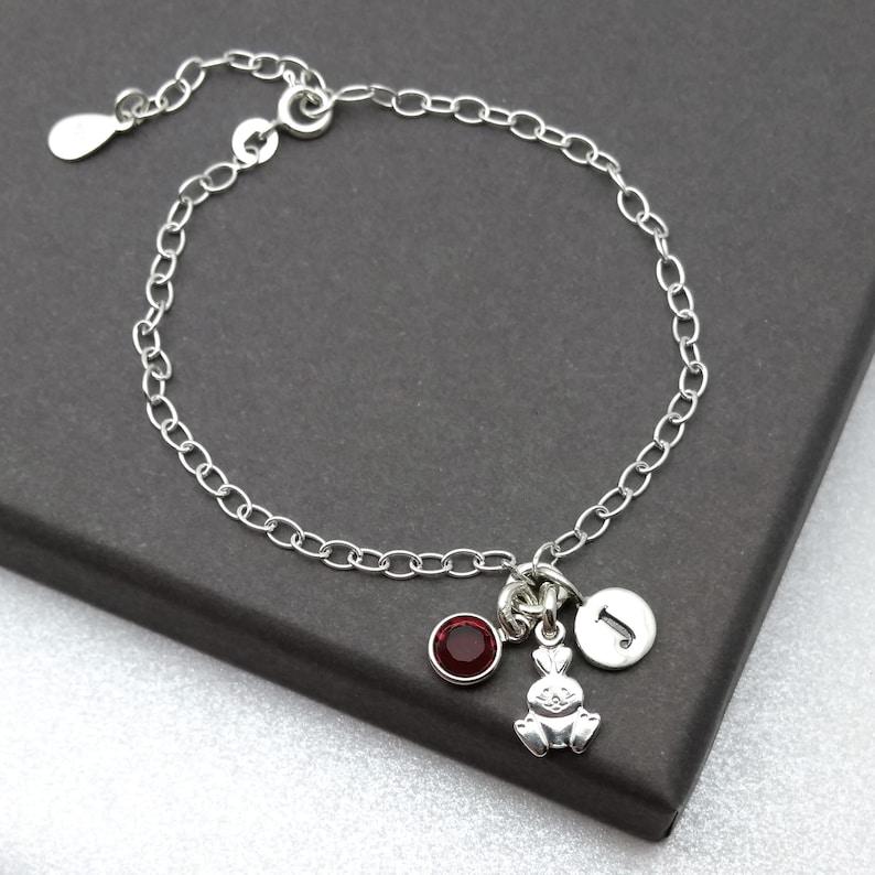925 Silver Cute Animal Jewellery Silver Rabbit Jewellery Personalised Bunny Rabbit Gift Bunny Rabbit Sterling Silver Bracelet
