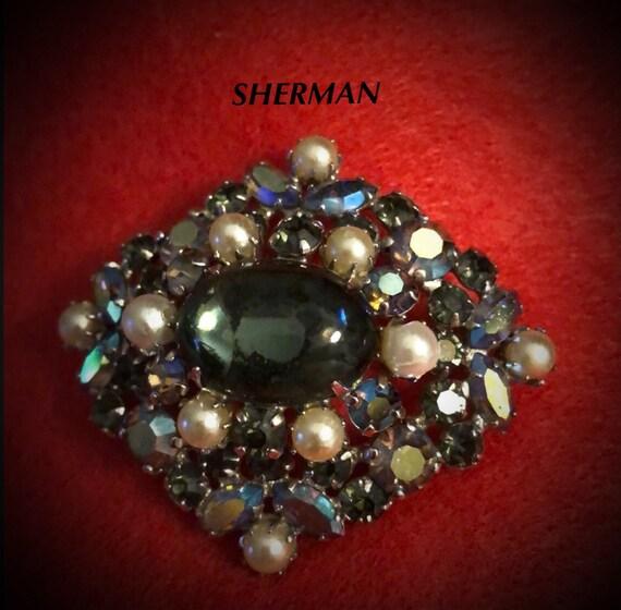 Vintage Signed Sherman Brooch