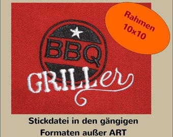 2 Embroidery files: BBQ Griller