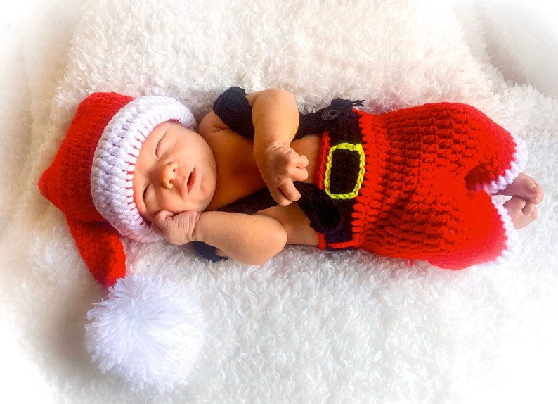Christmas Baby Outfit Crochet Baby Outfit Newborn Santa image 0