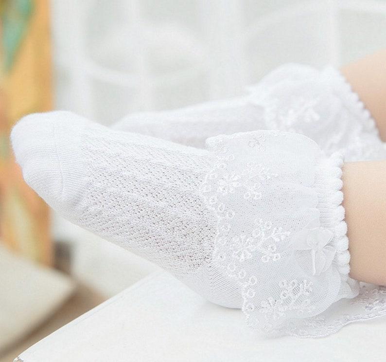 Ruffled Socks Lace Socks Baby socks Girls Socks Little Girls Socks Toddler Socks Frilly Socks Infant Socks Christening Sock Easter Sock