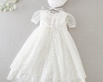 Baby Girl Sleeveless Christening Dress  Girls Lace Baptism Dress   Lace Baby Girls Dress   Girls Lace Baptism Dresses   Baby Girl Lace Dress