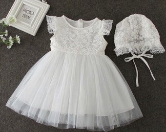 Baby Girl Christening Dress   Girls Floral Lace Baptism Dress   Lace Baby Girls Dress   Girls Lace Baptism Dresses   Baby Girl Lace Dress