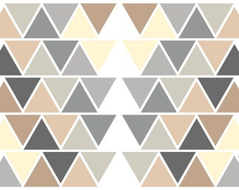 Wandtattoo Dreiecke, Wandaufkleber Dreiecke, Sticker Fürs Schlafzimmer  Geometrisch, Wohnzimmer, Flur, Geometrie, Grau Beige, Jabalou