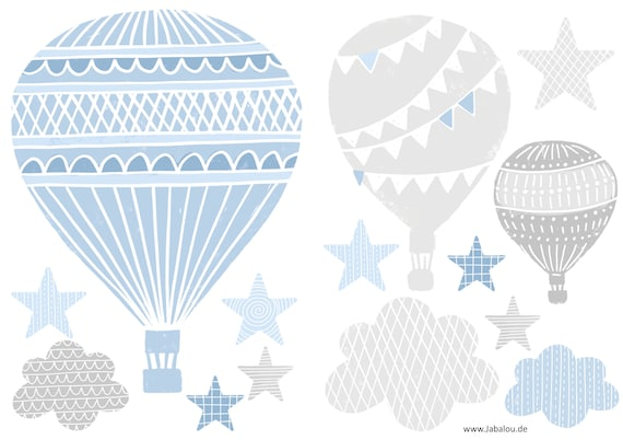 Heissluftballons Wandtattoo Aufkleber Wand Babyzimmer Etsy