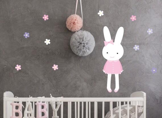 Hase Wandtattoo Aufkleber Wand Babyzimmer Bunny Sticker Etsy