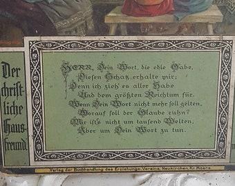 Old Christian calendar cardboard 1917
